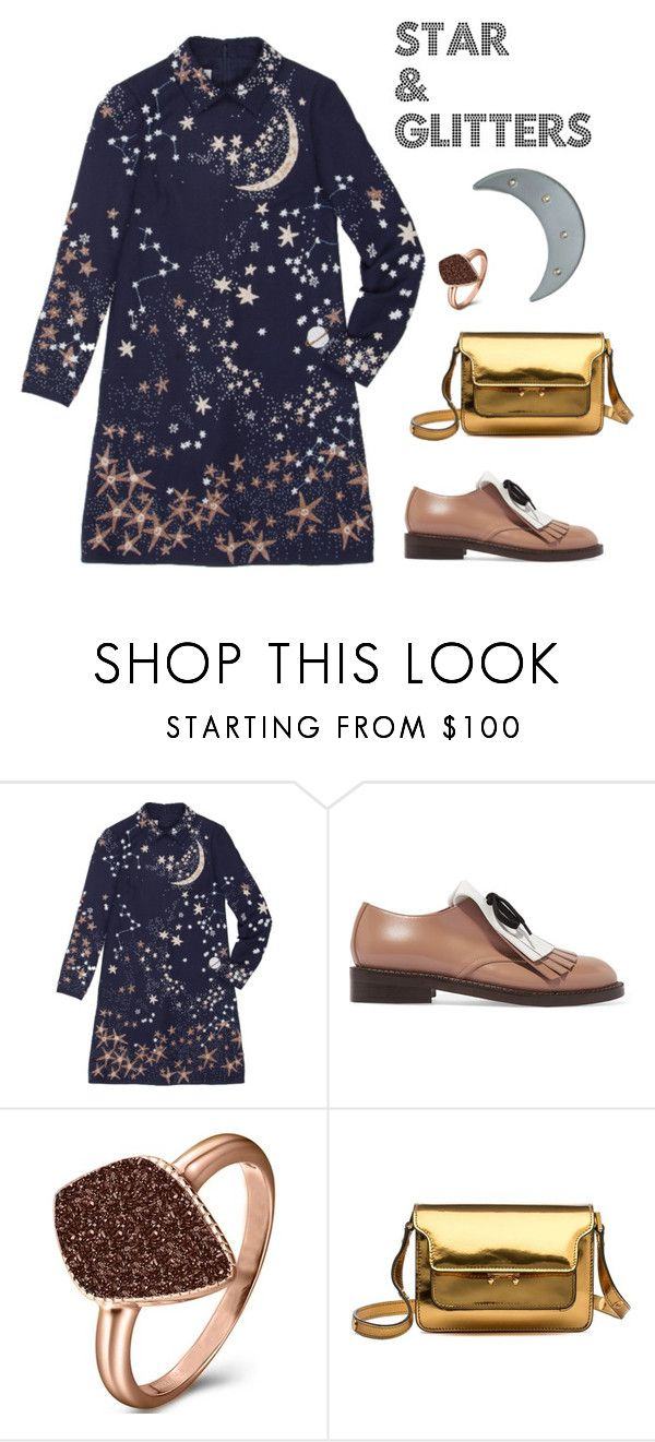 """""""Star & glitters"""" by natcatt ❤ liked on Polyvore featuring Valentino, Marni, H.AZEEM, women's clothing, women's fashion, women, female, woman, misses and juniors"""