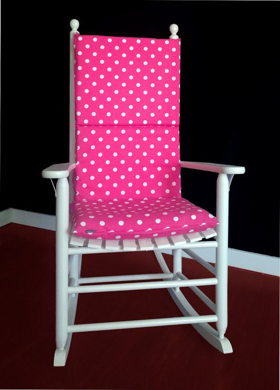 Polka Dot Rocking Chair Cushions Small Corner For Living Room Pink Peacock Cushion Nursery Pinterest Cover Candy Dots By Rockincushions