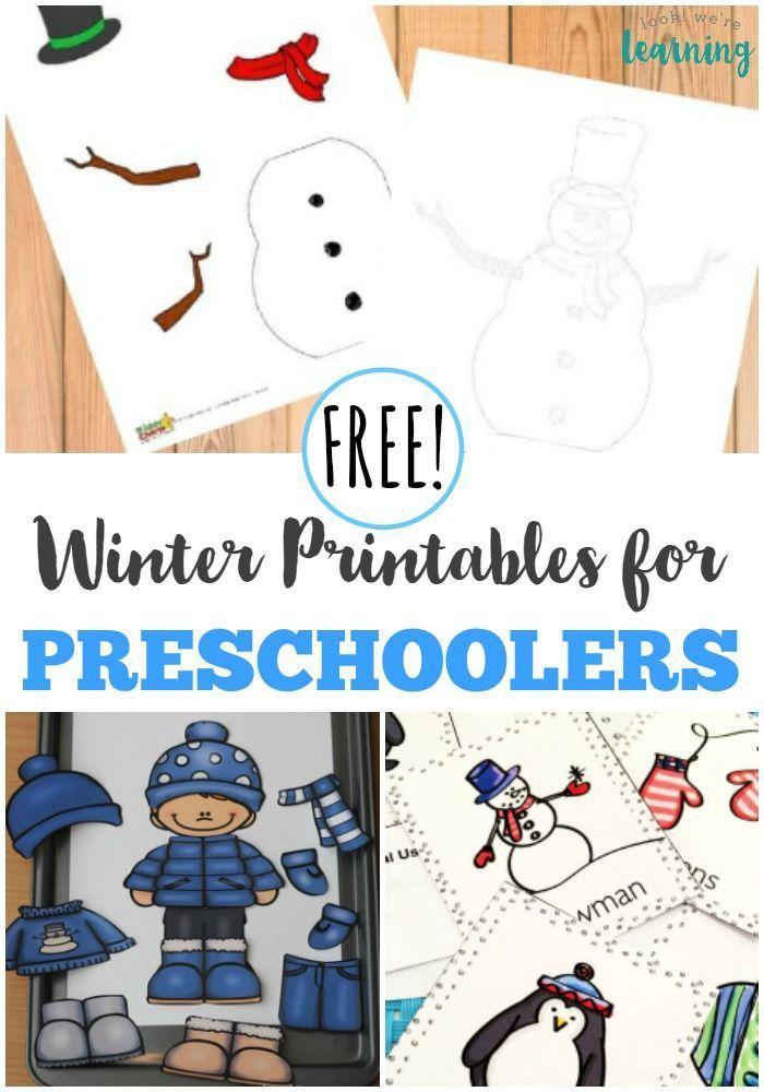 Free Winter Printables for Preschoolers | Pinterest | Schule und ...