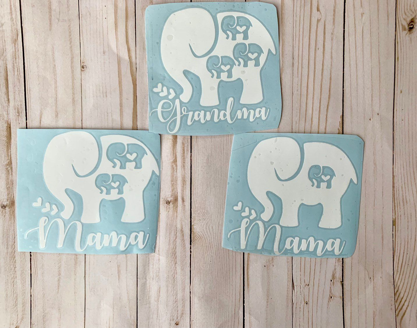 Diy Decal Car Decal Gifts For Grandma Gifts For Mom Car Etsy Elephant Stickers Car Decals Elephant Decal [ 1124 x 1432 Pixel ]