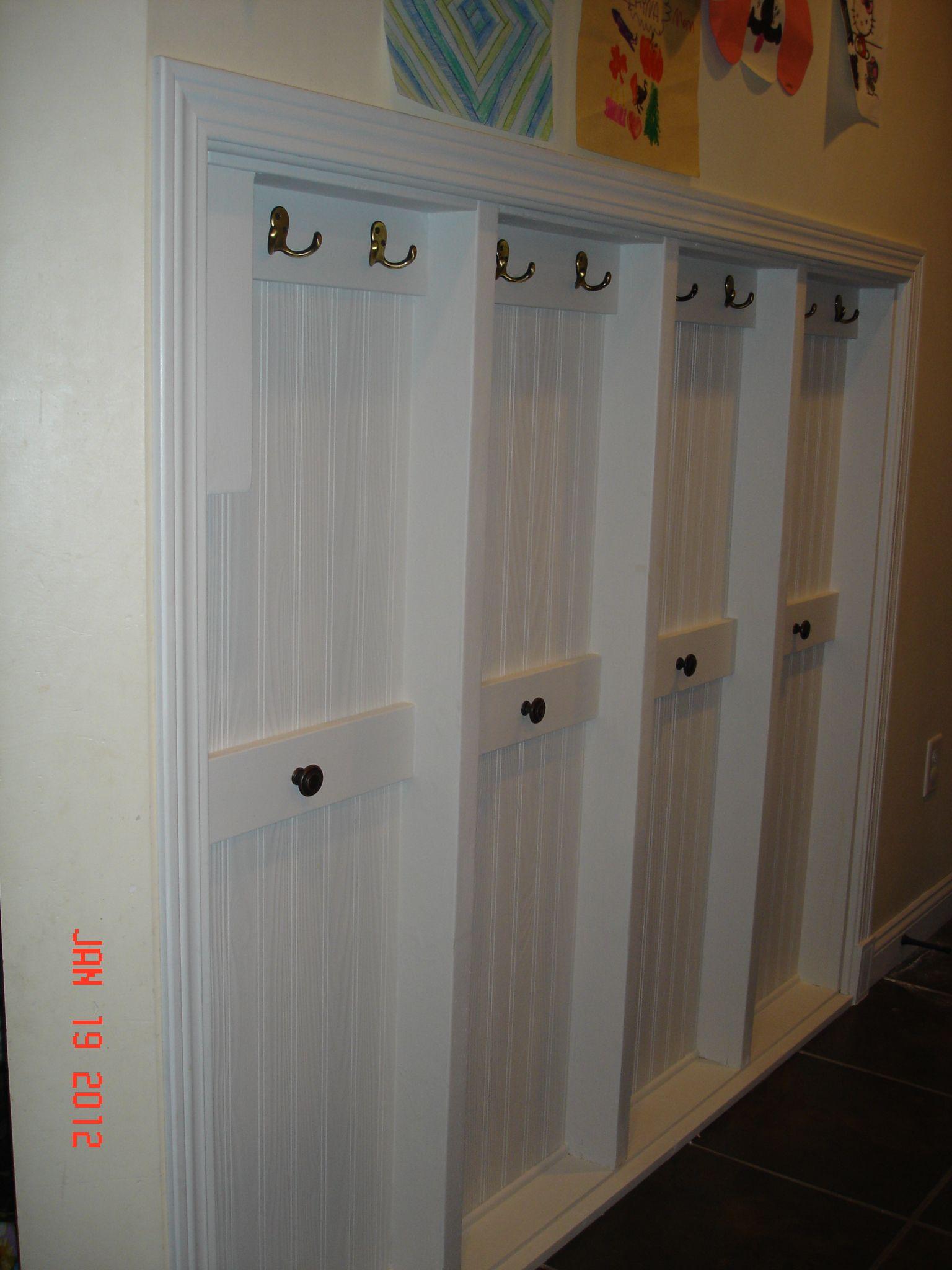 Narrow hallway storage solutions  Cute idea for kidsu hooks in foyer  DIMyself  Pinterest  Pocket