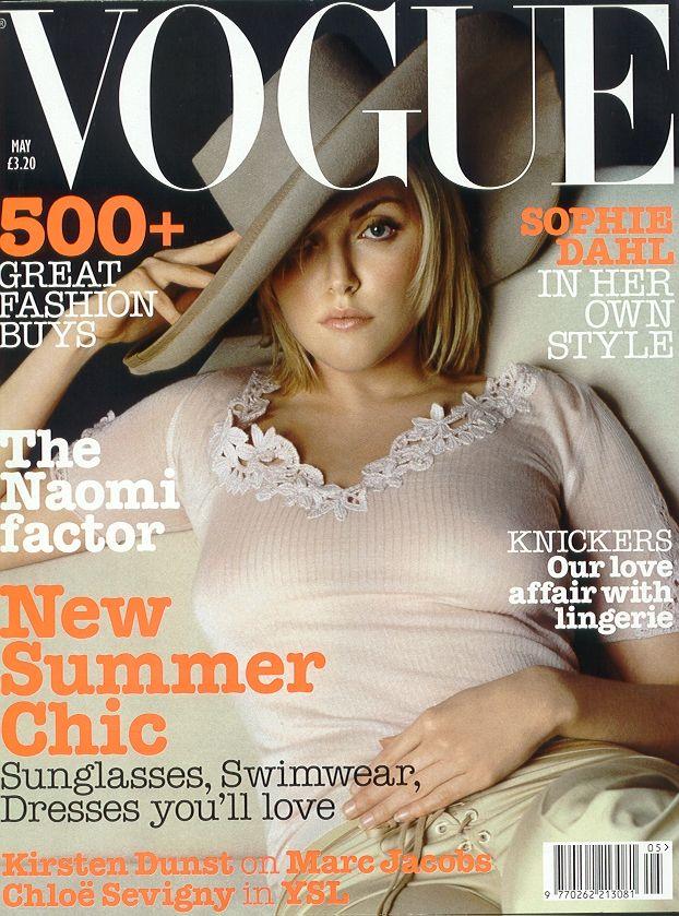 Sophie Dahl by Bert Stern Vogue UK May 2002