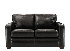 T Leather Twin Sleeper Sofa
