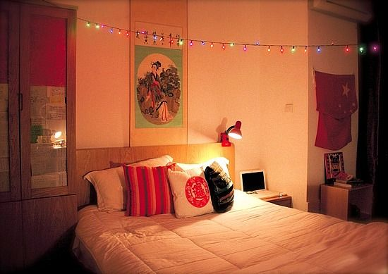 Need more light put up Christmas lights in your room! Stonehill