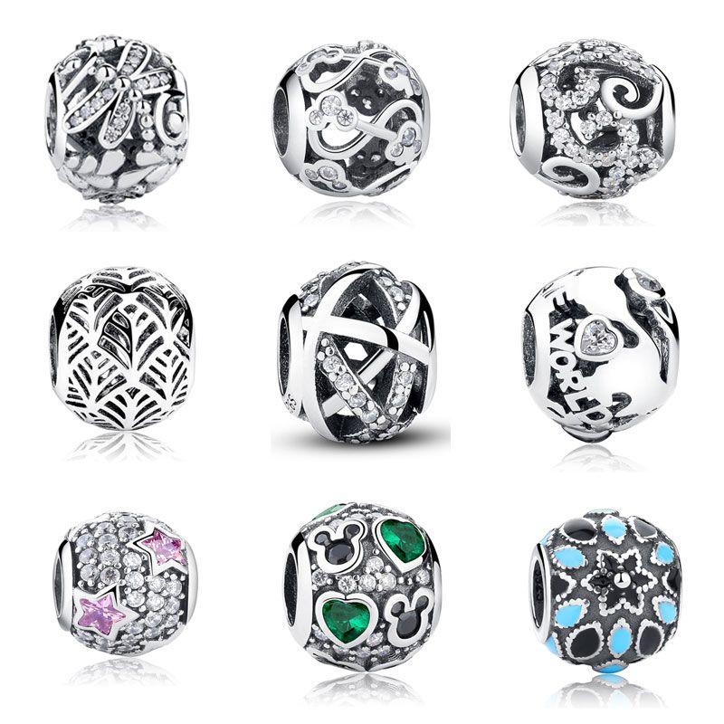 Genuine Sterling Silber Perle heart Charms für Armbänder Charm