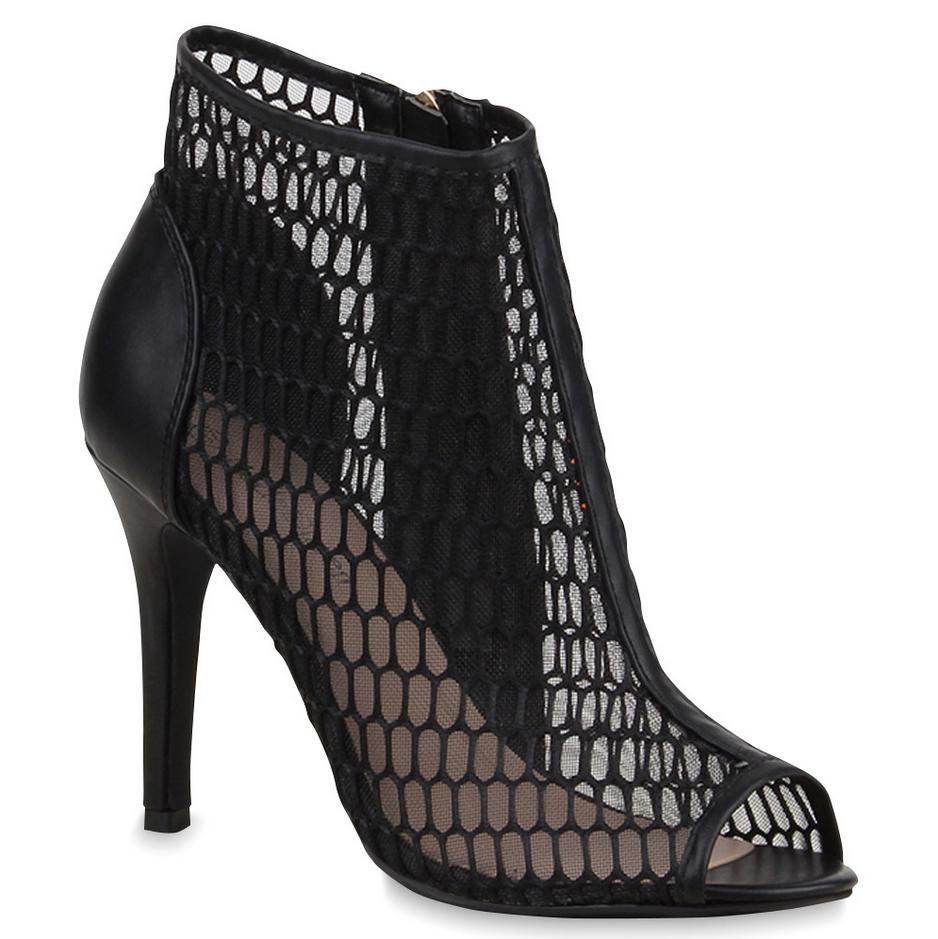 Sandal Boots im Netzmuster von stiefelparadies.de