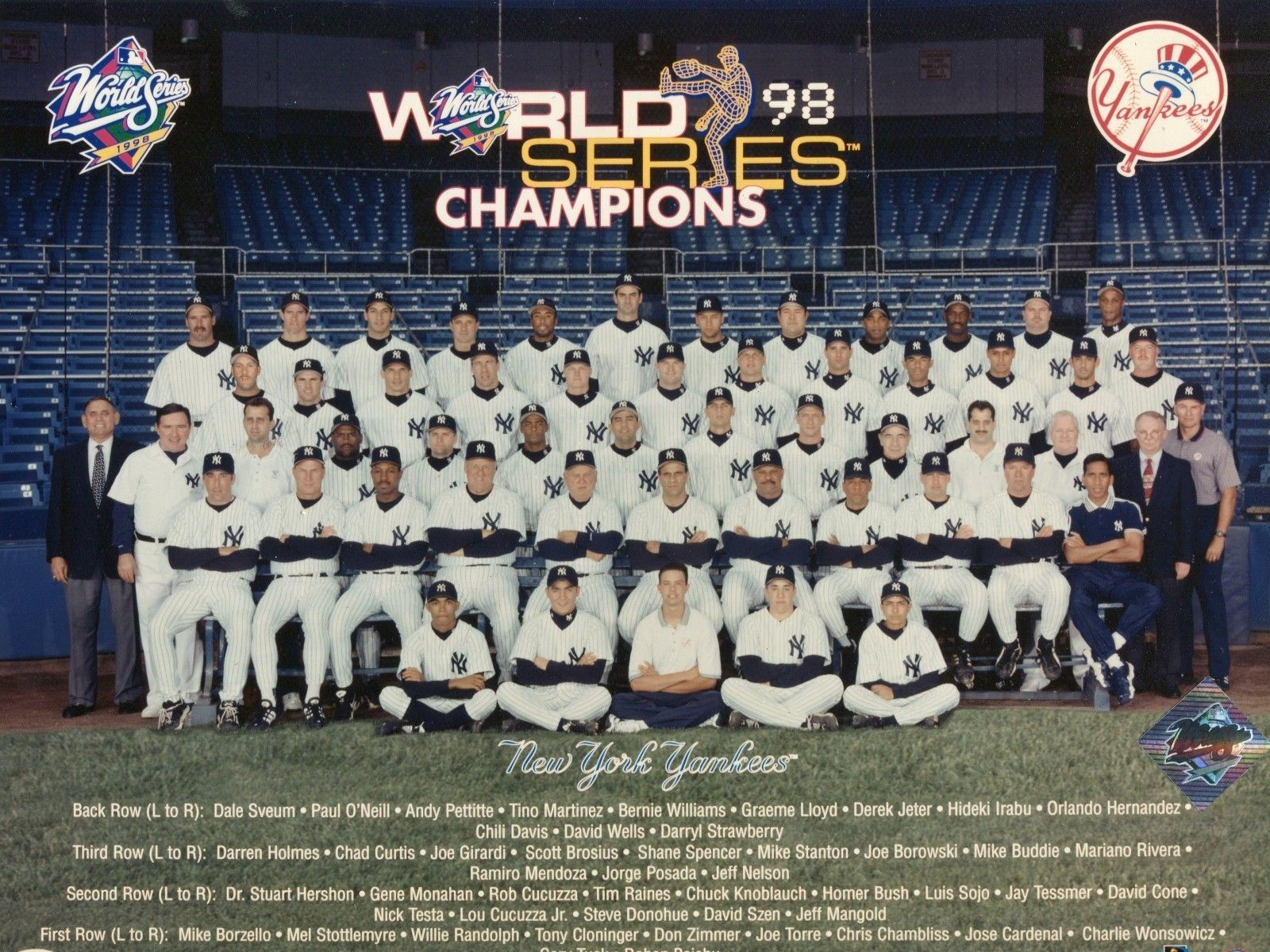 d5319fd435534 1998 New York Yankees Team Photo. Take a close look at the greatest team  ever to play the game 125-50 on the season and World Series Champions