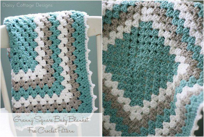 Free Granny Square Baby Blanket Patterns - Craftsy | Ganchillo para ...