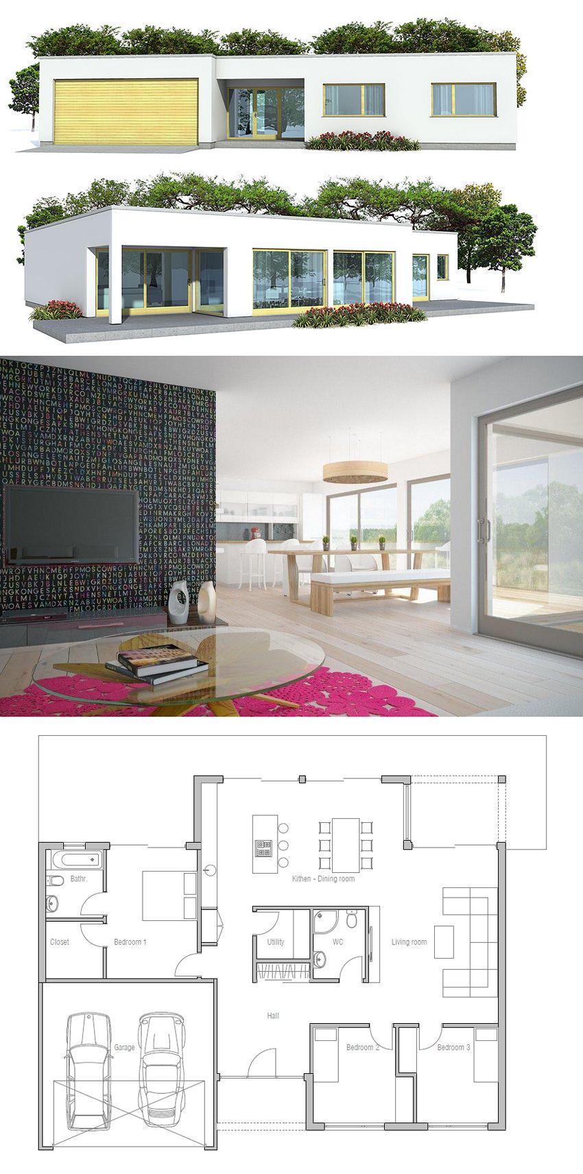 House Plan Ch161 House Plans Modern House Design Contemporary House