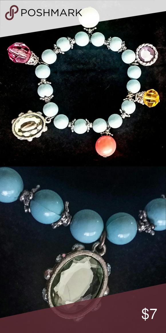 Selling this Beautiful Glass Gemstone Bracelet on Poshmark! My username is: heatherdcheek. #shopmycloset #poshmark #fashion #shopping #style #forsale #Jewelry