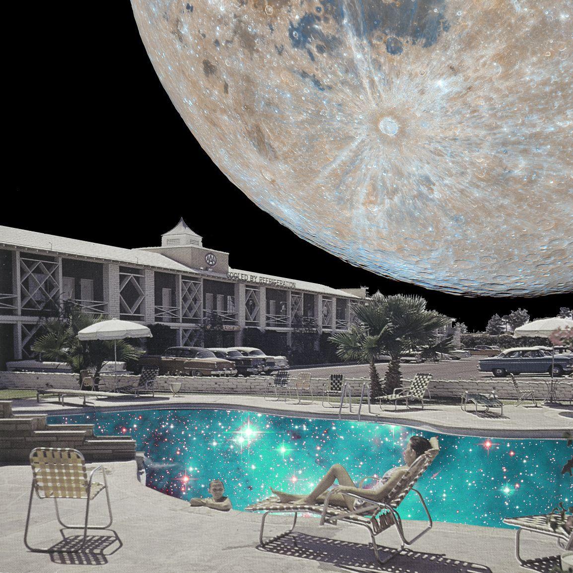 Space holiday Annette von Stahl vintage collage Collage