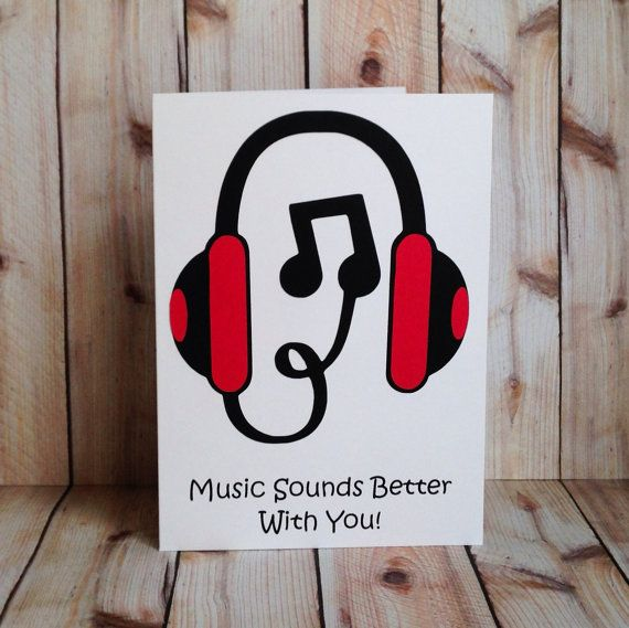 DJ Music Lovers Valentine Birthday Card I By ArtfulCreationsByDeb