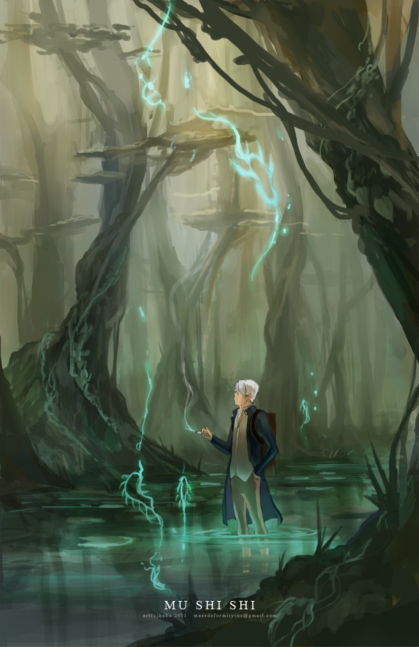 Mushishi. Loooove this anime. Glad they made a second
