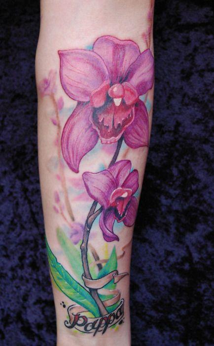 Orchid Tattoo Tattoos Tatouage Orchidee