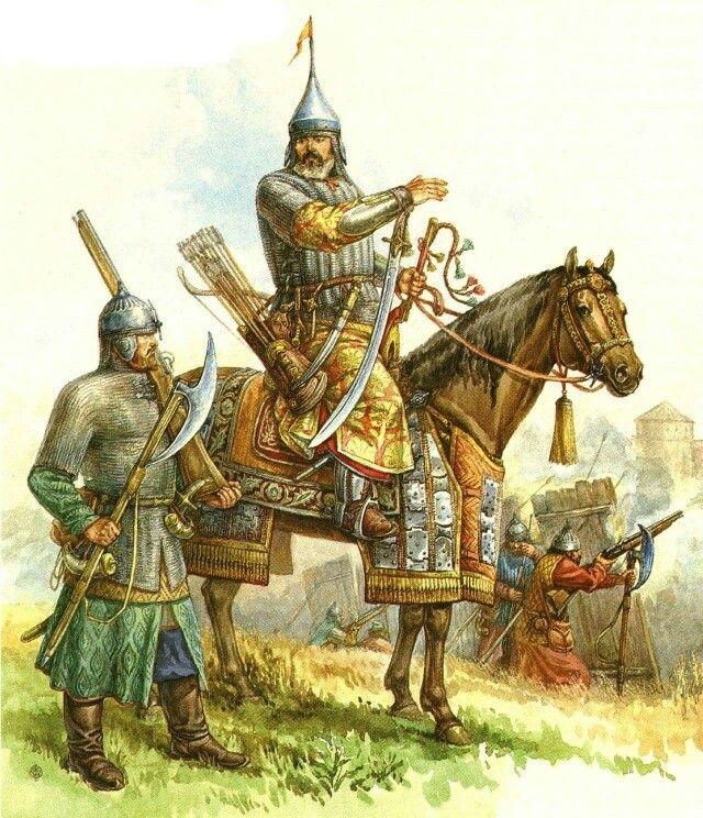 Russian warriors mid 16th century
