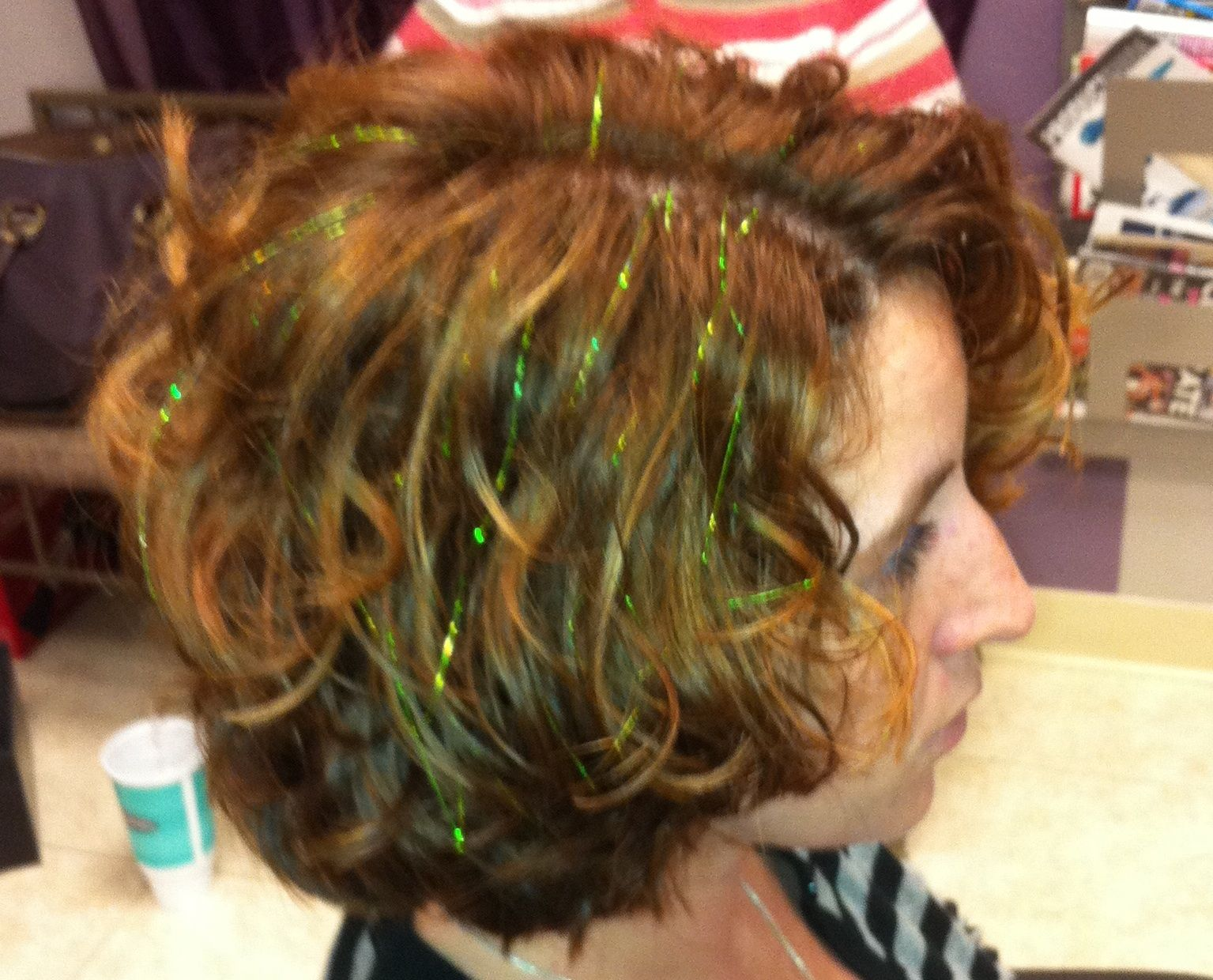Green Hair Tinsel