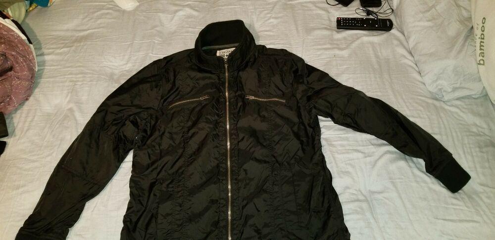 278bc714dc61 Converse All Star Men s Black Long Sleeve Full Zipper Ath. Bomber Jacket  -Size L  fashion  clothing  shoes  accessories  mensclothing  coatsjackets ( ebay ...