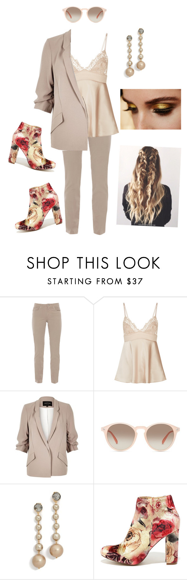 """""""beige2"""" by mariaac2 ❤ liked on Polyvore featuring Fabrizio Gianni, River Island, GlassesUSA, Marni, Pat McGrath and Liliana"""