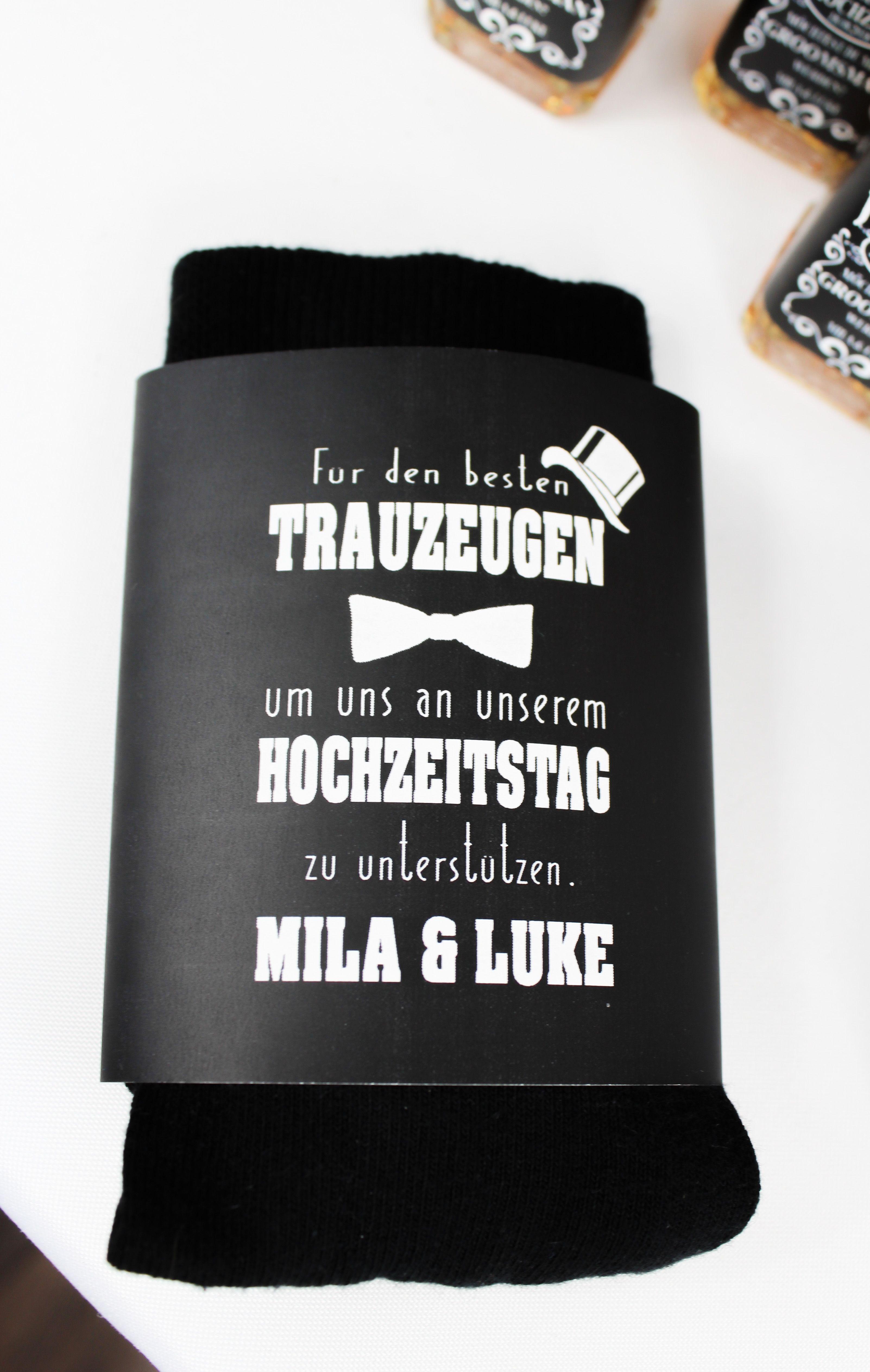 Banderole Fur Die Socken Des Brautigam Oder Trauzeugen Das