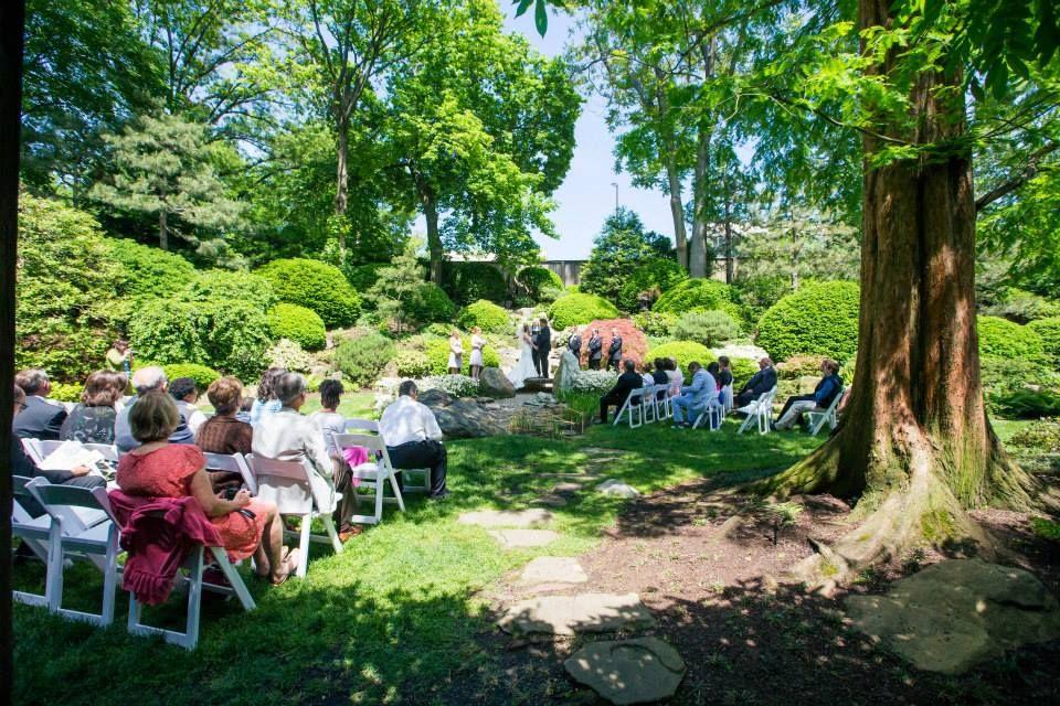 Cleveland Botanical Garden, Cleveland, OH, Japanese Garden Wedding Ceremony
