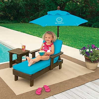 Sun Smarties Kids Chaise Outdoor Furniture Set Onestepahead Com Kids Outdoor Furniture Pallet Furniture Outdoor Diy Childrens Furniture