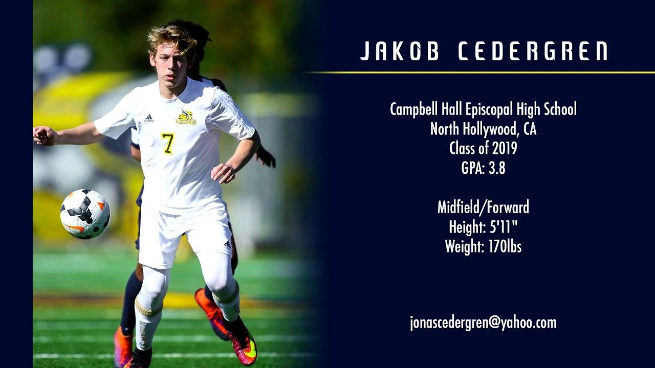 Jakob cedergren college soccer recruiting video class