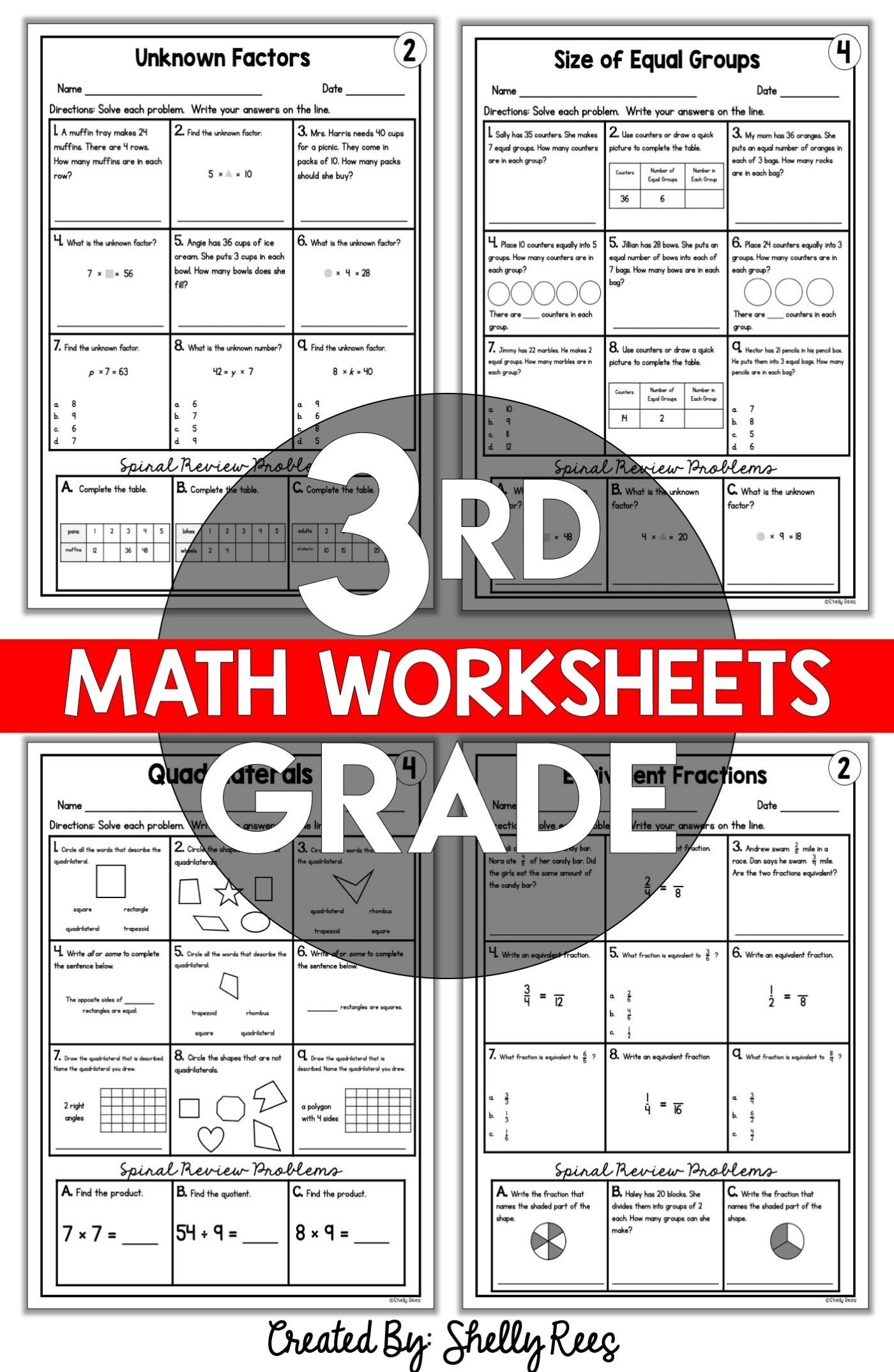 3rd Grade Math Worksheets Free and Printable - Appletastic Learning   Math  worksheets [ 2148 x 1400 Pixel ]