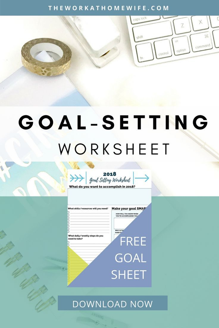 Goal-Setting Worksheet | Goal setting worksheet, Goal settings and Goal