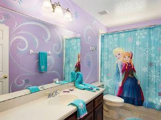 Kamar Mandi Anak Frozen Awesome Bedrooms Disney Bathroom