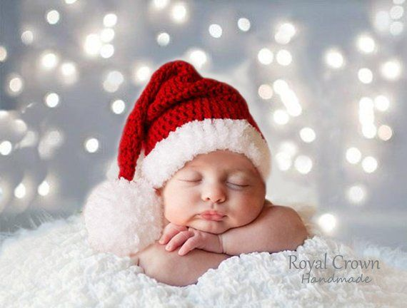 Photo of Baby Christmas hat, Santa Baby Hat, First Xmas Outfit, Santa Elf Costume, Newborn photo prop, Infant, Crochet Kids Hats, RoyalCrownHandmade