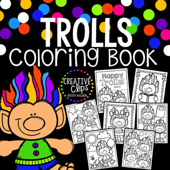 Trolls Coloring Book Made By Creative Clips Clipart Creative Clips Clipart Coloring Books Unique Coloring Pages