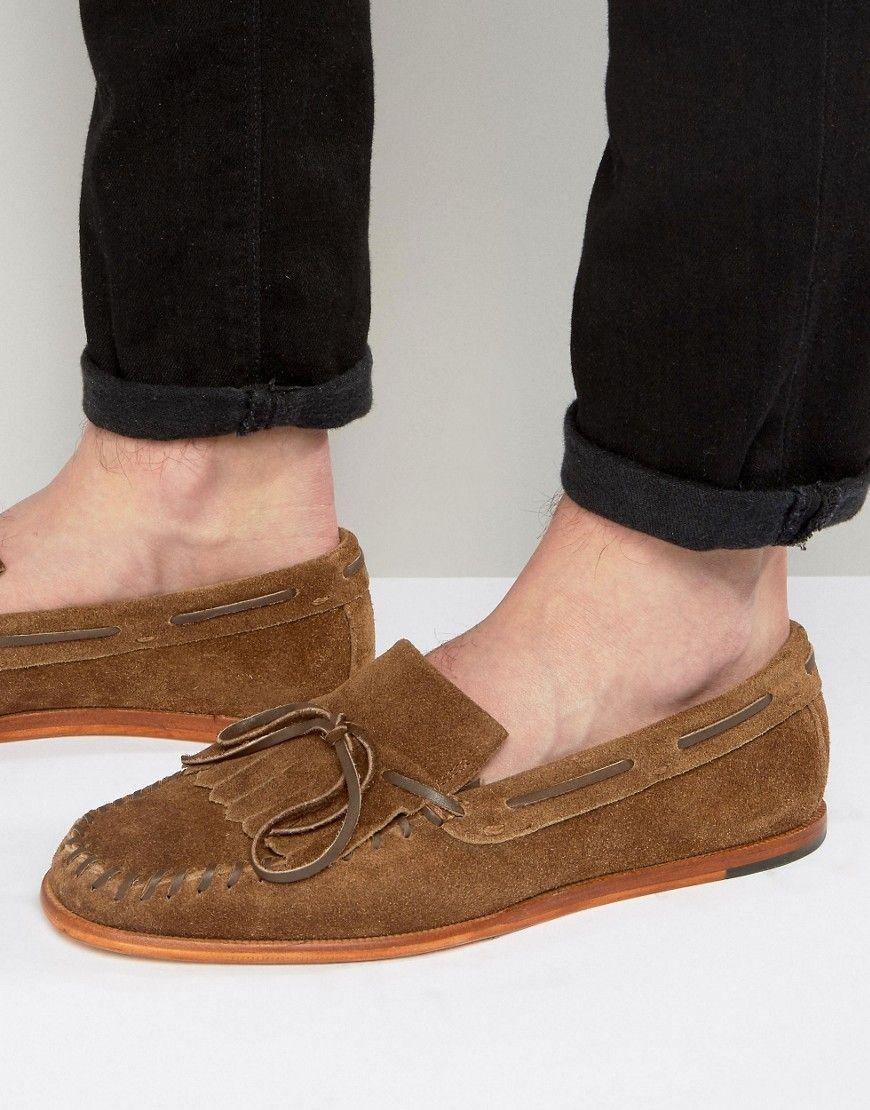 HUDSON LONDON. Tan LoafersHudson LondonMilitary StyleTasselYouth  CultureApronReal LeatherMen's ShoesRange