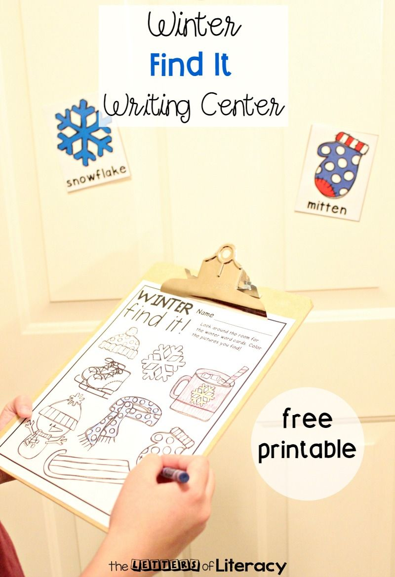 Winter Writing Center Activity Writing Center Activities Writing Center Winter Writing Activities Free writing center activities for