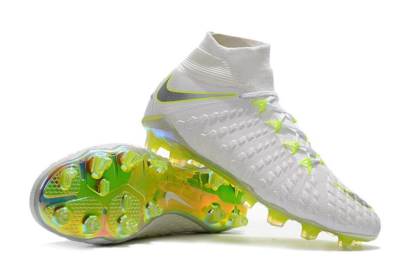 766a9259f359 Nike Hypervenom Phantom III DF FG Cleats White Volt Grey
