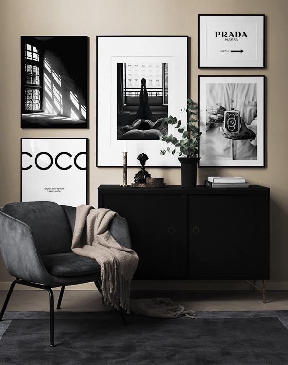 10++ Cuadros blanco y negro salon ideas in 2021