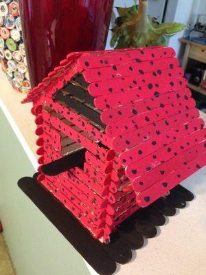 alfies birdhouse | bird houses kids can make | Craft stick