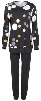 Pomppu oloasu yöpuku pyjama musta pallokuvio Nanso 89,-