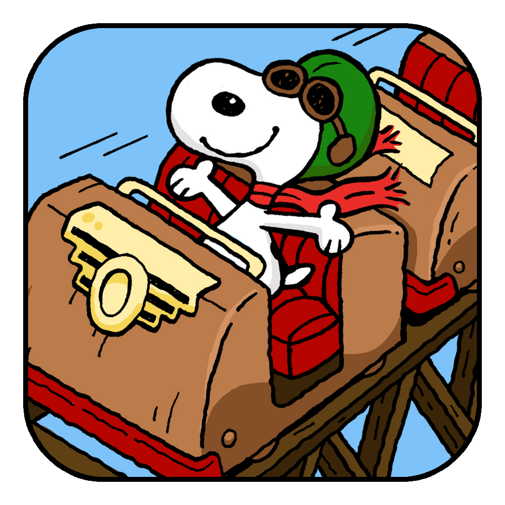 Snoopy rides the roller coaster. Snoopy love, Charlie
