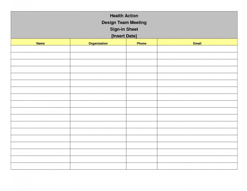 Meeting Sign In Sheet In 2020 Sign In Sheet Template Printable