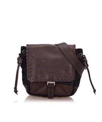 Pre-owned - Leather crossbody bag Prada s4lQC