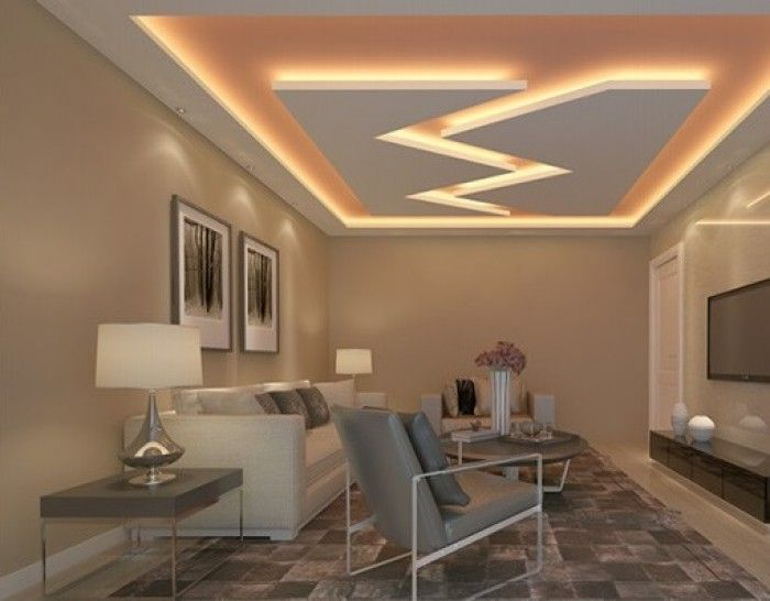 Living Room Ceiling Design Fascinating Desainplafonruangtamuterbaru 700×546  Aquarium Inspiration