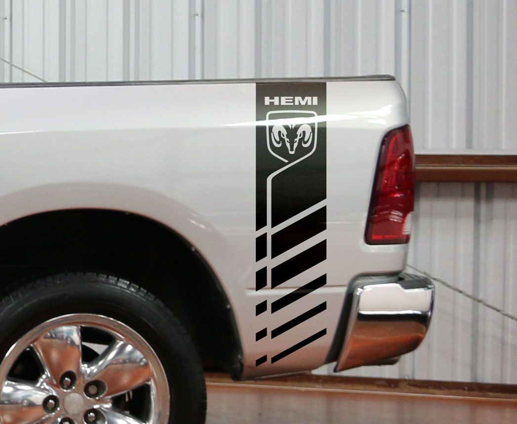 Dodge Ram 1500 2500 3500 Truck Bed Stripe Vinyl Decal Sticker Hemi 4x4 Racing