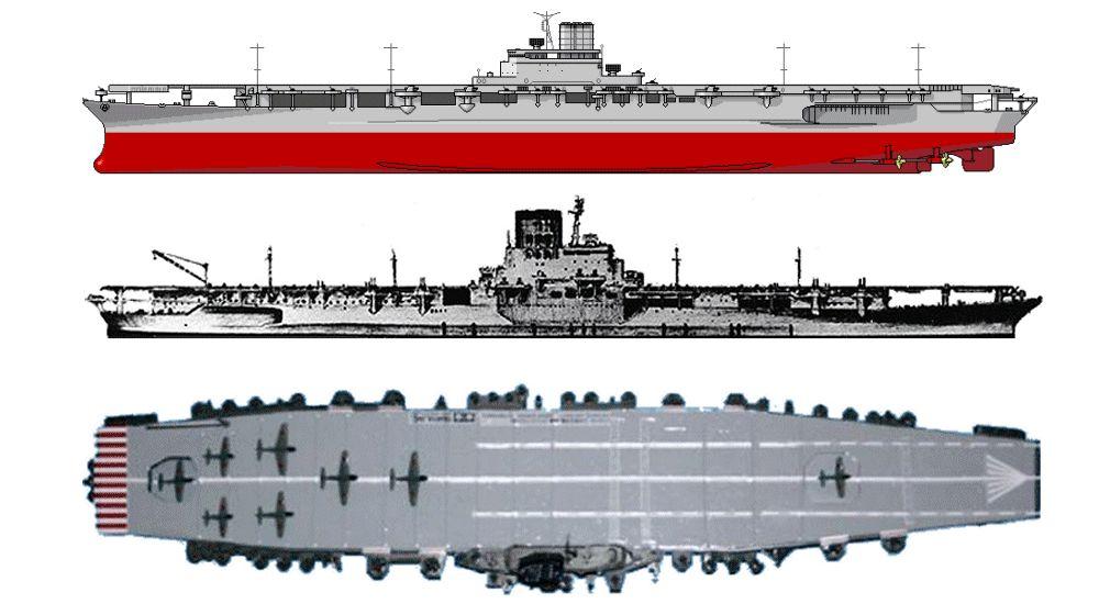 Ijn Aircraft Carrier Shinano  U822a U7a7a U6bcd U8266