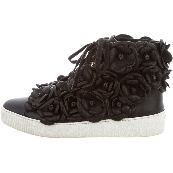 Pre-owned - Leather high trainers Chanel E8777yB