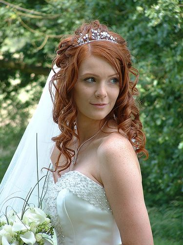 Excellent 1000 Images About Long Wedding Hairstyle With Tiara On Pinterest Short Hairstyles Gunalazisus