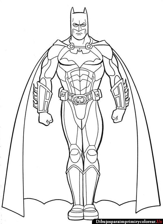 Dibujos de Batman para Imprimir y Colorear | tvoreni | Pinterest ...
