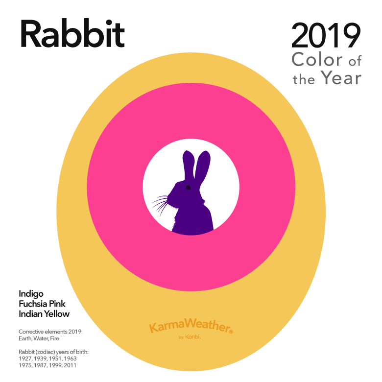 Image result for color of the year 2019 rabbit karmaweather