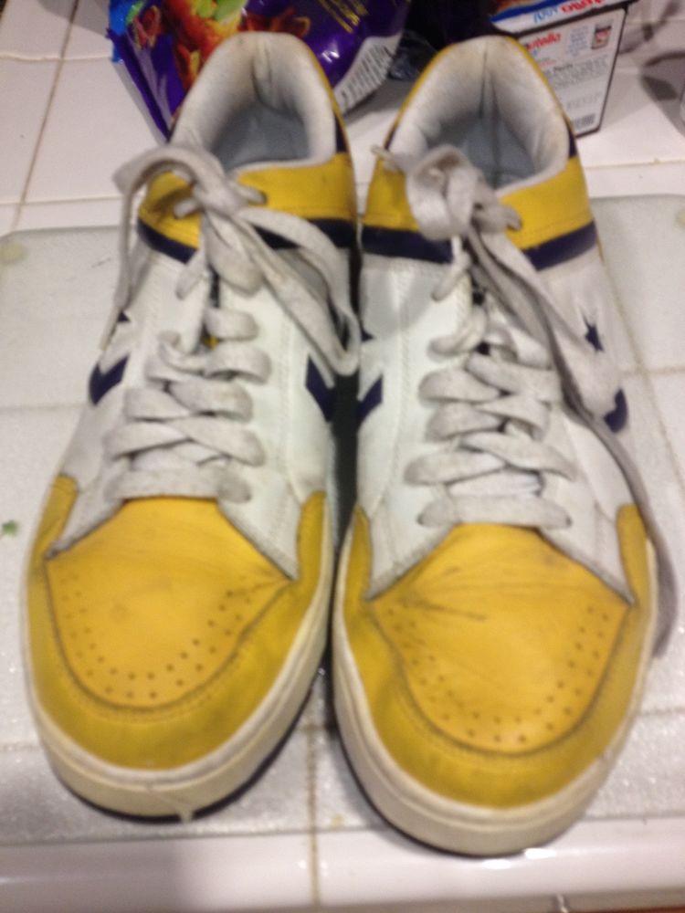 1d7c047b9de Mens Converse Lakers style Sneakers Size 10  fashion  clothing  shoes   accessories  mensshoes  casualshoes (ebay link)