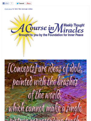A Course in Miracles Newsletter