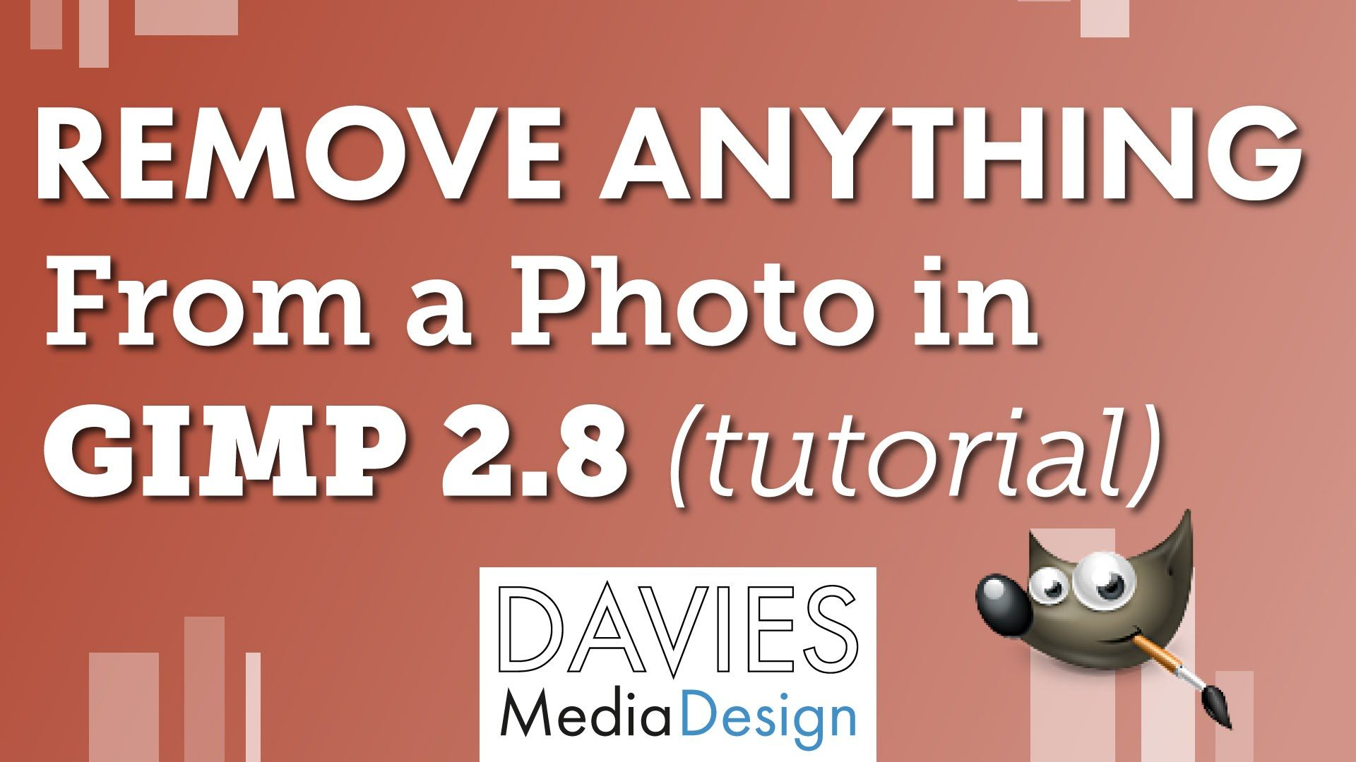 How To Remove Anything From A Photo In Gimp Tutorial Gimp